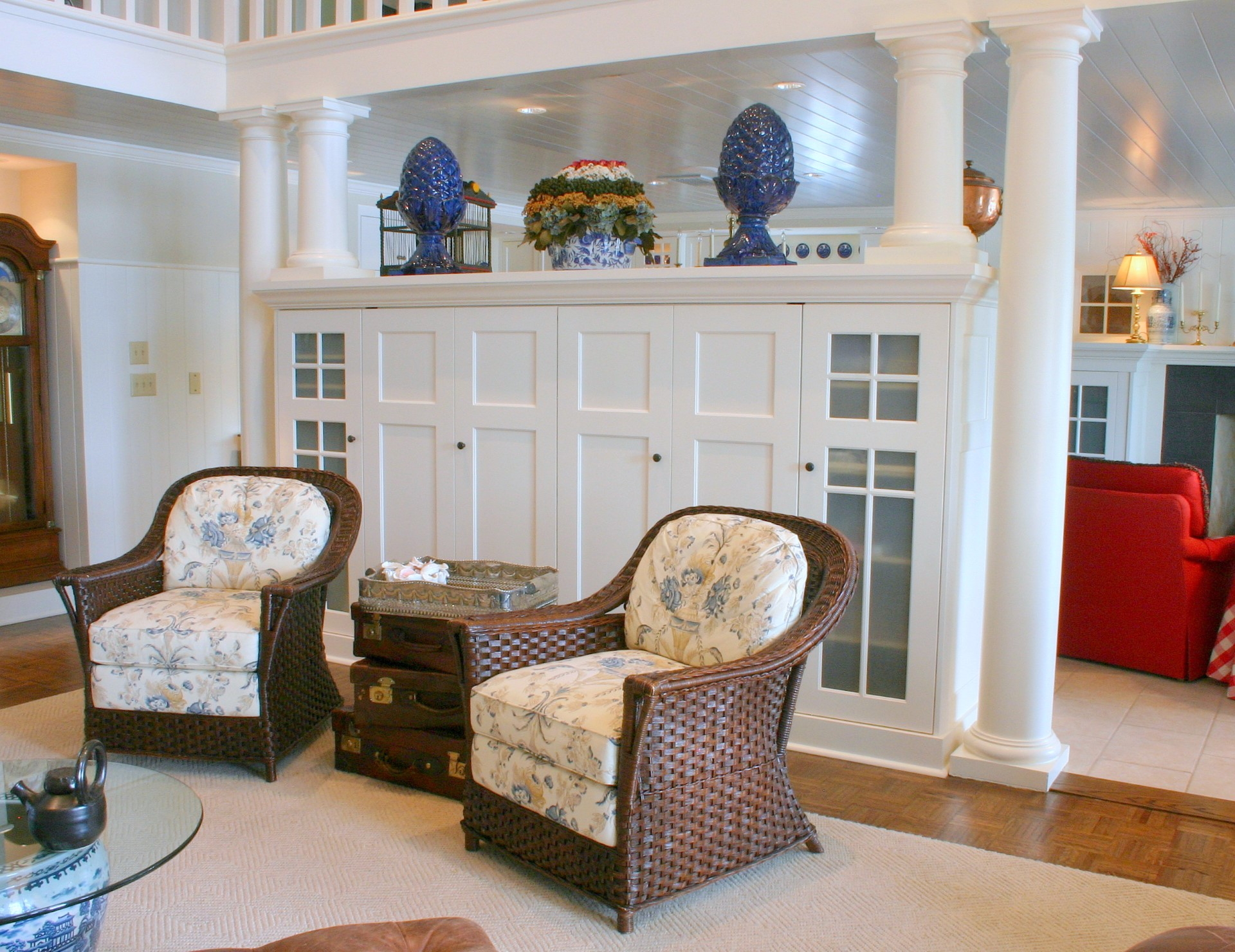 Clearwater Entertainment Center with Pocket Doors