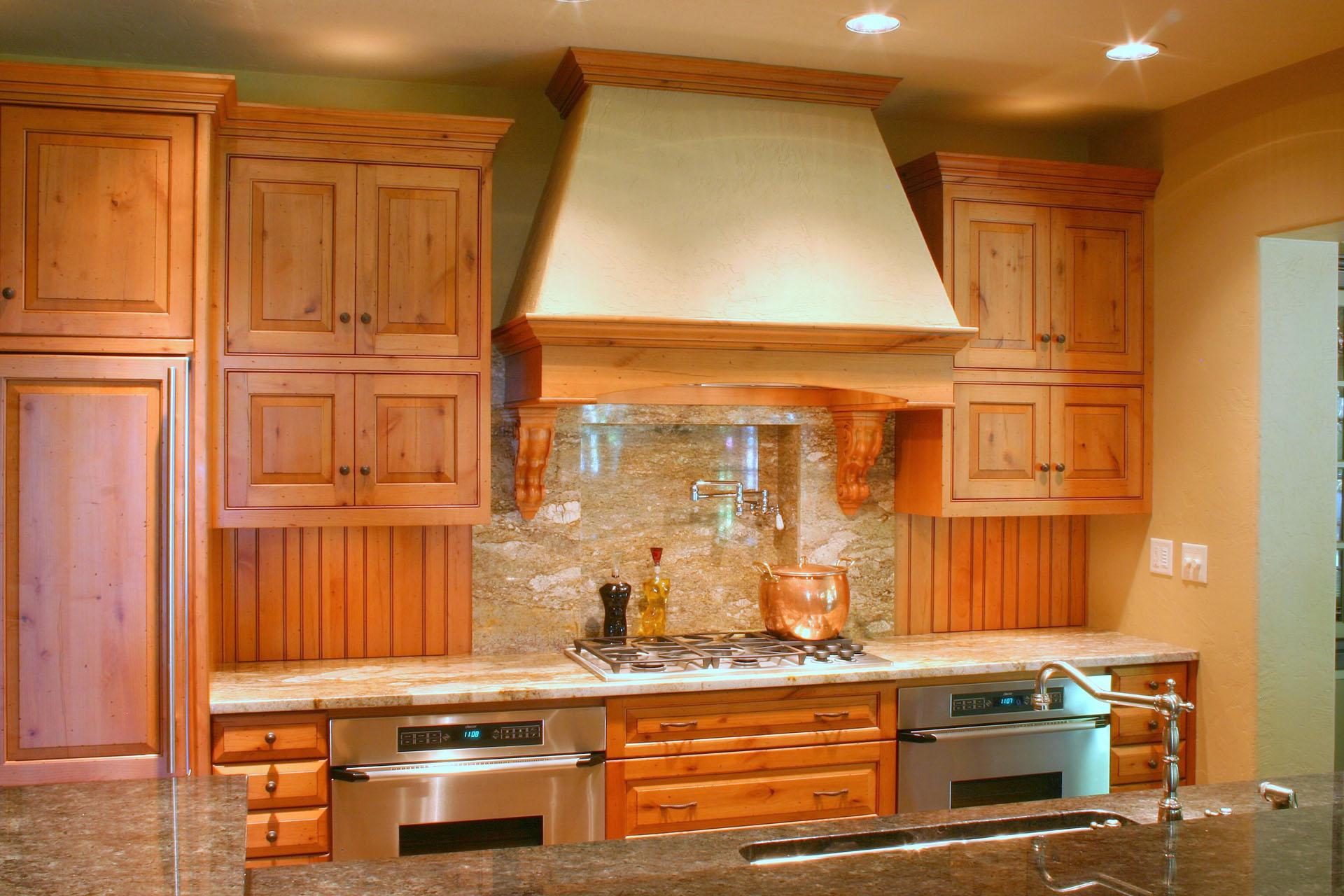 Limehouse Distressed Alder Kitchen with Appliance Garages