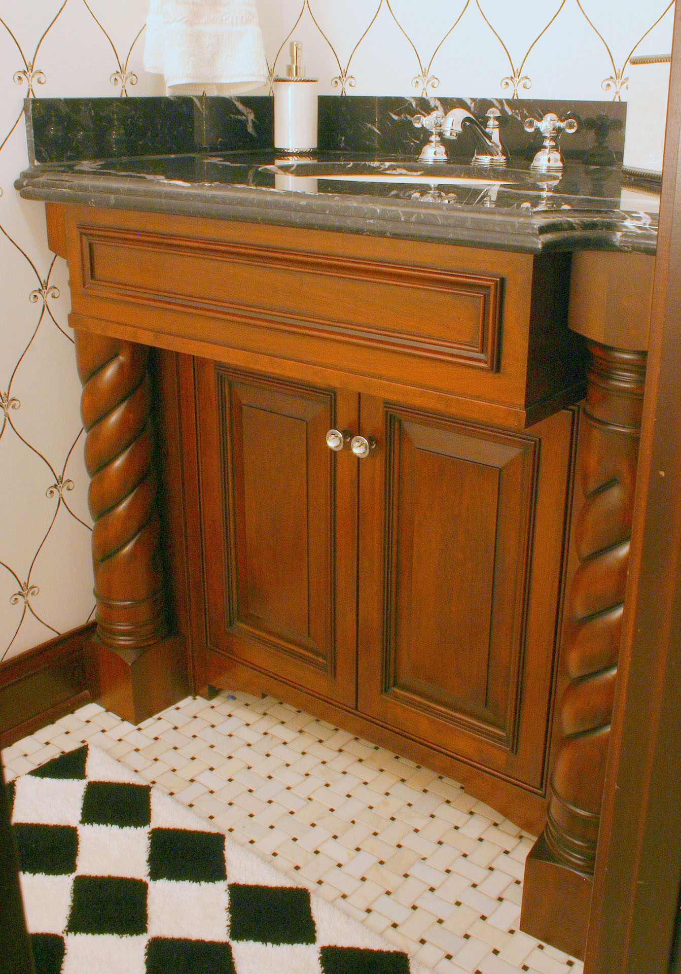 West Park Cherry Vanity with Rope Turnings