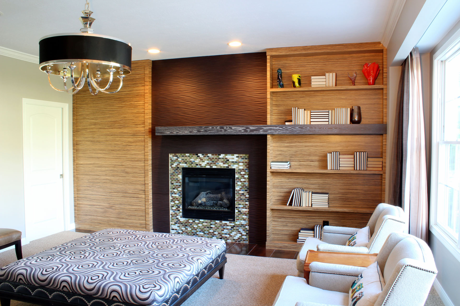 Westside Zebrawood Fireplace