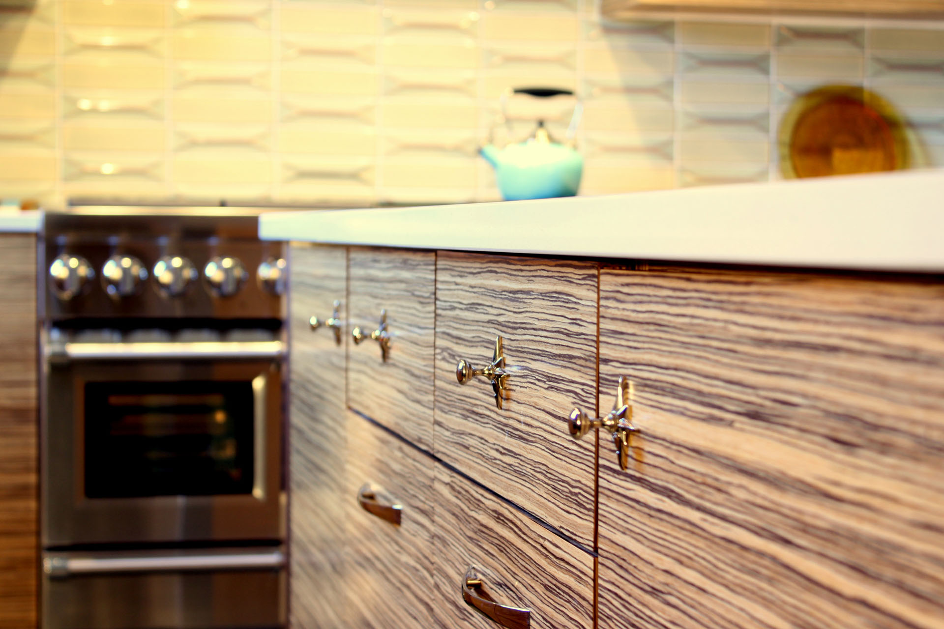 Westside Zebrawood Kitchen