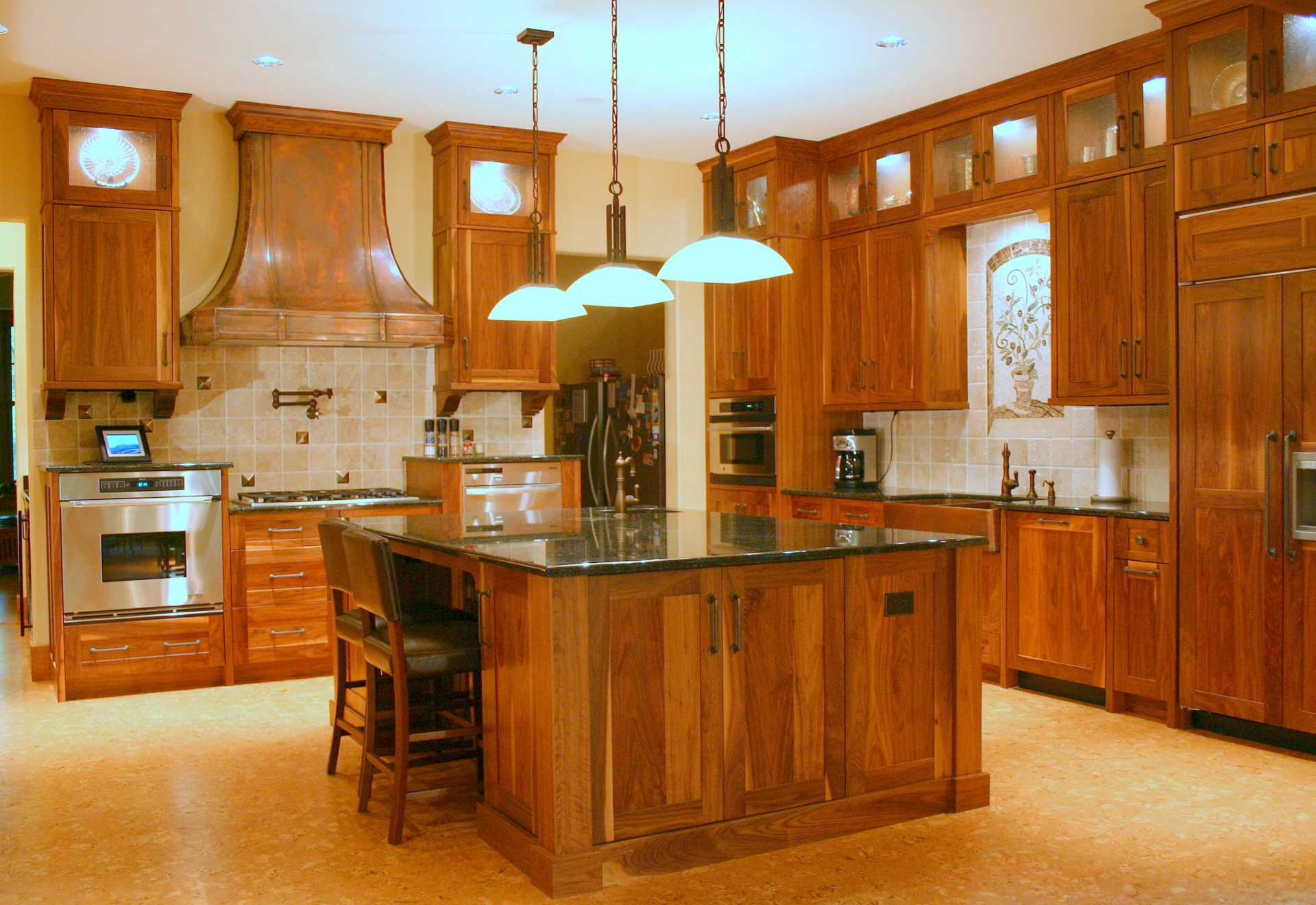 Willow Lodge Natural Walnut Kitchen