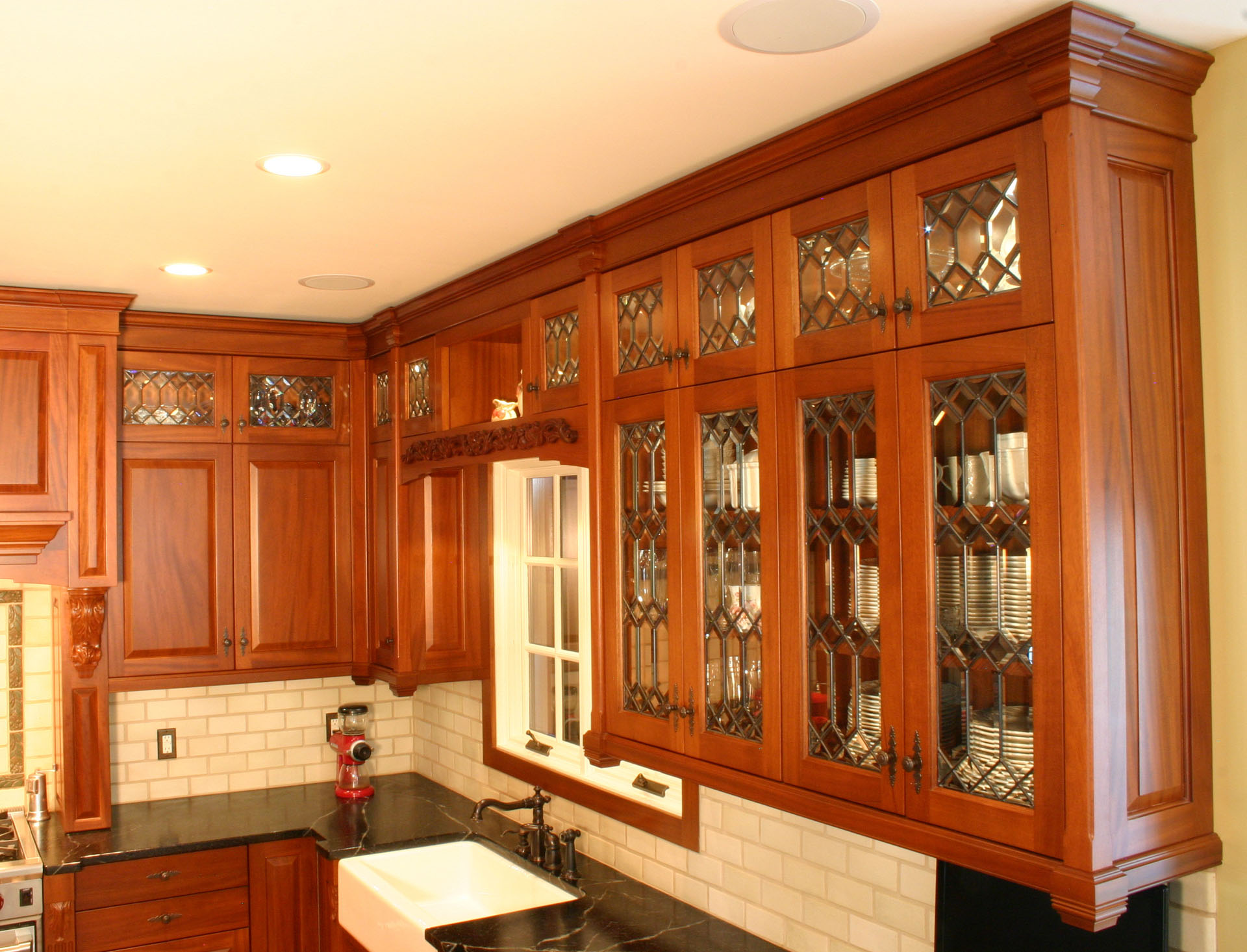 Woodfield Art Nnouveau kitchen mahogany