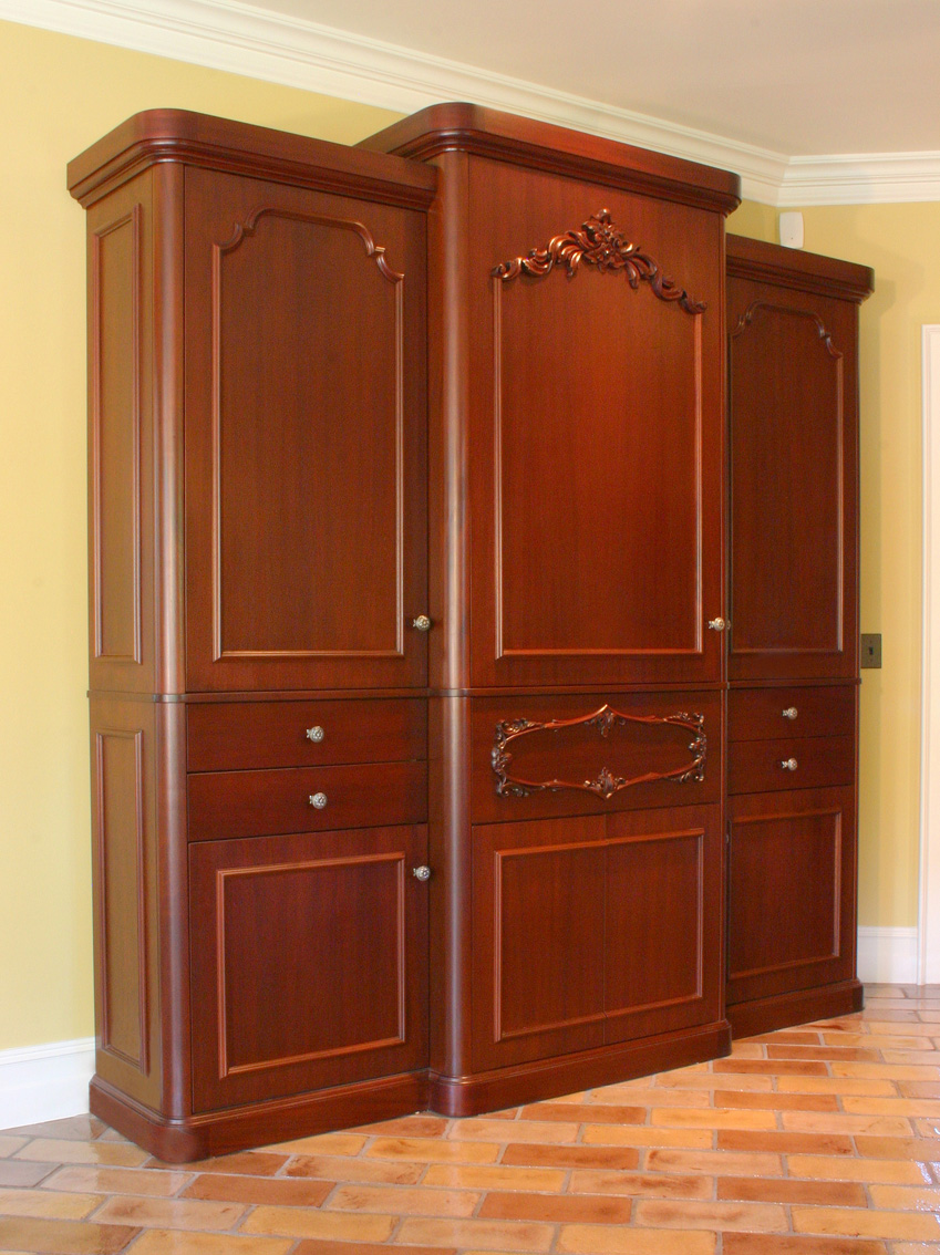 Woodfield mahogany armoire pantry
